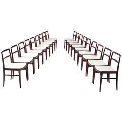 Arne Vodder Set of 18 Rosewood Chairs