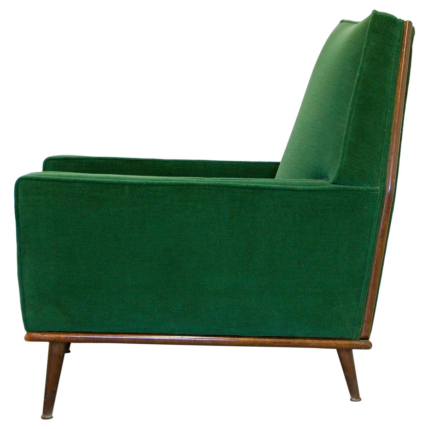 Attractive Incredible Lounge Chair In Emerald Green Mohair, 1950s At 1stdibs