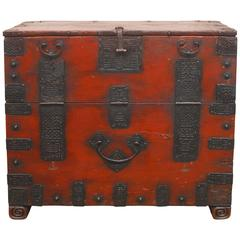 19th Century Korean Kyonggi Province Bandaji Chest