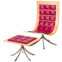 Saporiti Voyager Lounge Chair and Footstool by Gaby Fois Dorell
