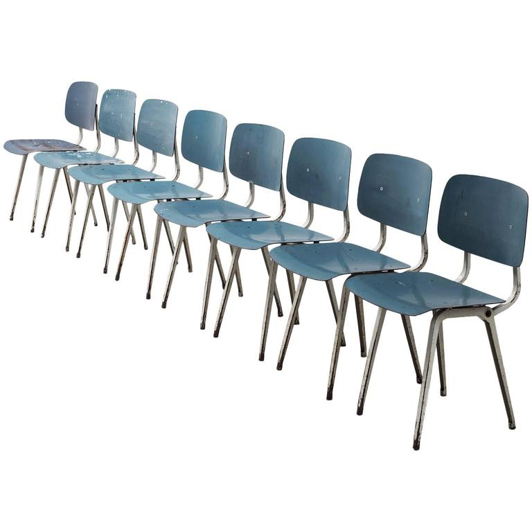 Friso Kramer Set of Eight Revolt Chairs