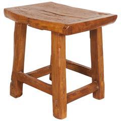 Large Rustic Stool/ Side Table