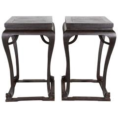 Pair of Antique Chinese Incense Tables