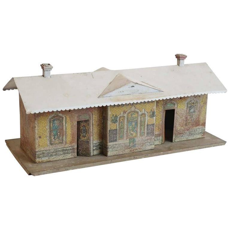 Vintage Miniature Train Depot For Sale
