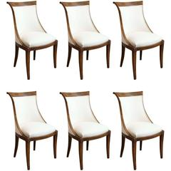 Vintage Set of Six Dining Chairs