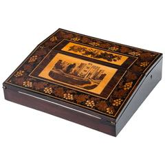 Tunbridge Antique English Rosewood Writing Box, 1870