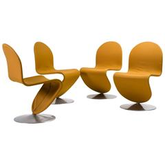 Panton 1-2-3 System Dining Chairs, All Original