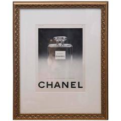 Vintage Framed Original Chanel Perfume Ad