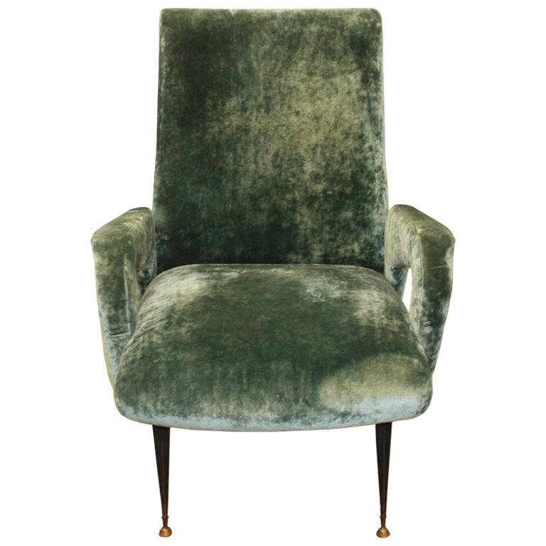 Single 1950s italian armchair at 1stdibs for Single armchairs