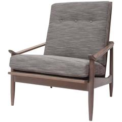 """Greige"" Walnut Lounge Chair by Milo Baughman for Thayer Coggin"