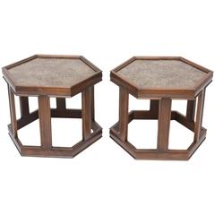 Pair of Occasional Tables by John Keal for Brown Saltman