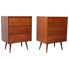 Set of Two Chest of Drawers by Paul McCobb in Dark Maple