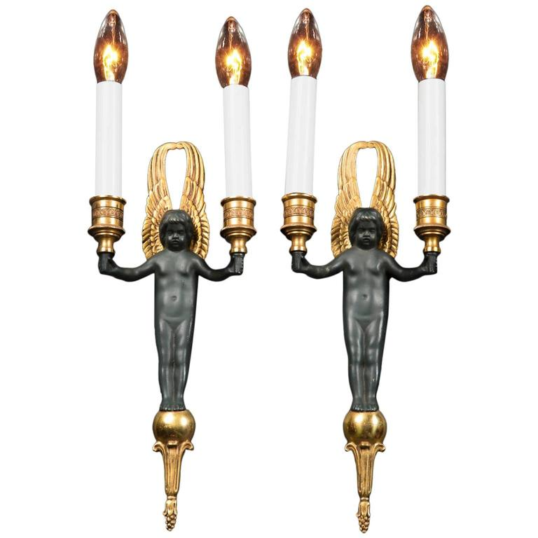 Pair Of Empire Sconces At 1stdibs