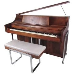 Exquisite Midcentury Rosewood Piano by Kimball