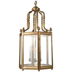 Large Bronze Hexagonal Lantern
