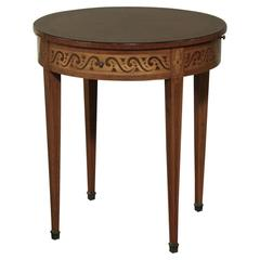 19th Century Swiss Round End Table with Pull-Outs