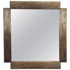 Figieri Bronze Doré Mirror, circa 1960