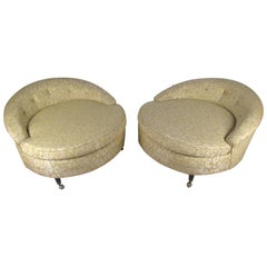 Pair of Midcentury Adrian Pearsall Style Circle Lounge Chairs