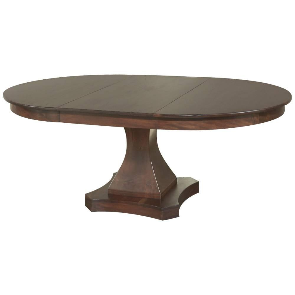 19th century mahogany round louis philipe pedestal dining for Dining room table replacement leaf