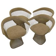 Four Iconic Warren Platner Armchairs for Knoll