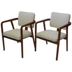 George Nelson Walnut Armchairs 1947 Design