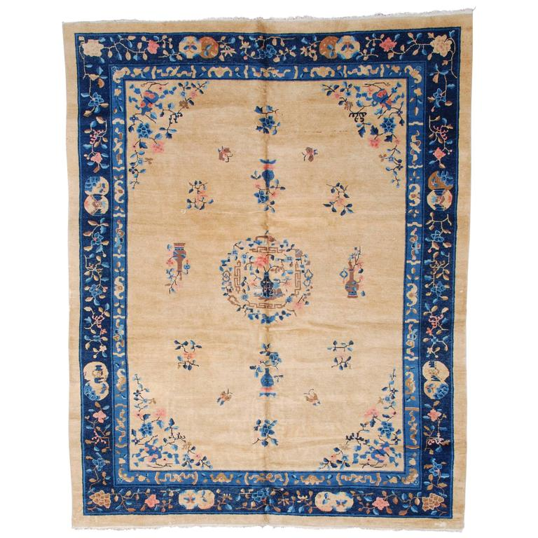 Chinese Carpets And Rugs: Antique Peking Chinese Oriental Rug At 1stdibs