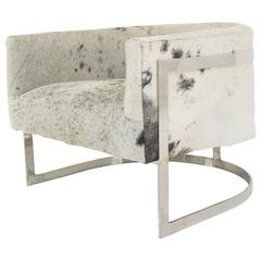 Cowhide Circular Armchair
