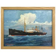 Painting of Ship Signed G.R. Windham