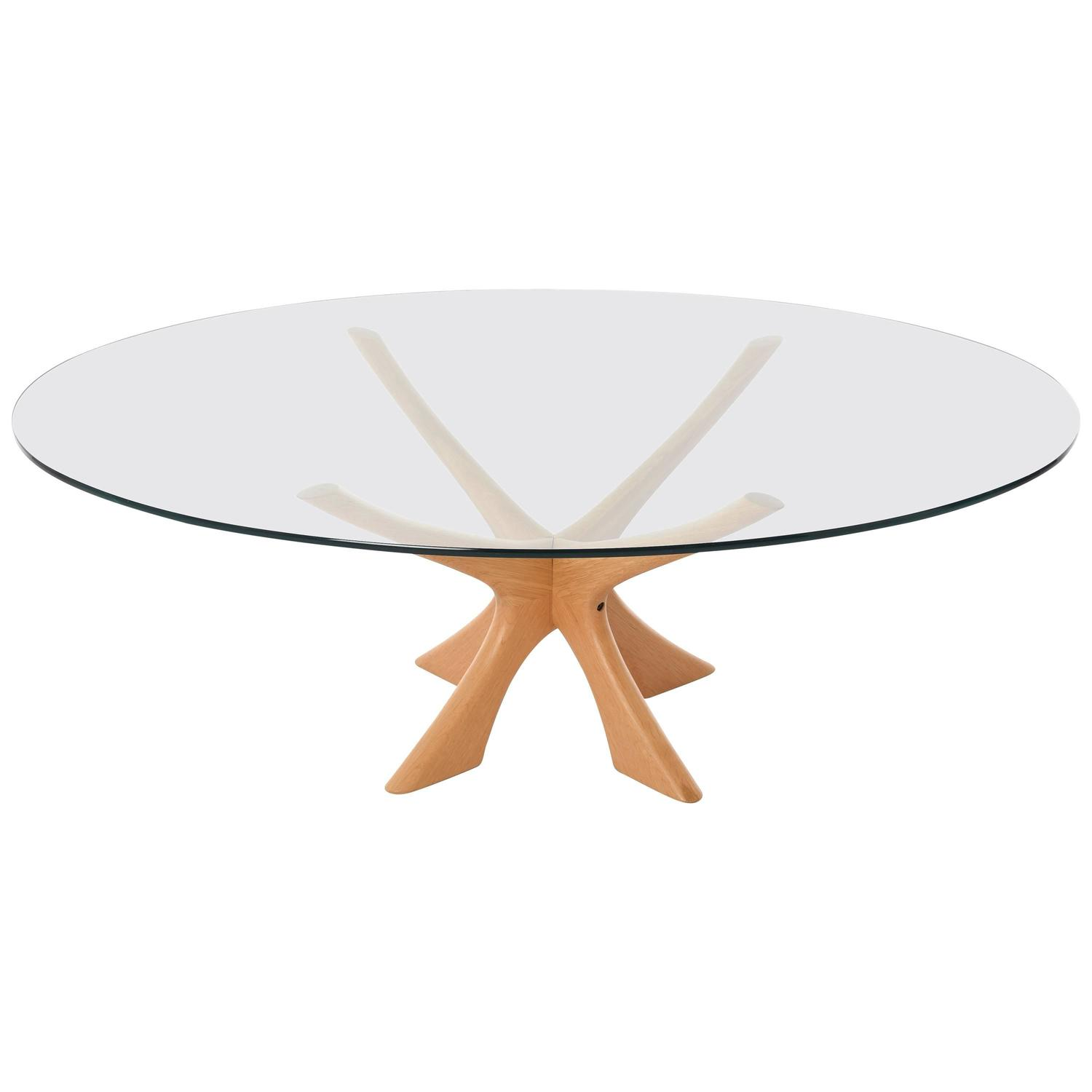Danish Modern Glass-Top Coffee Table For Sale At 1stdibs
