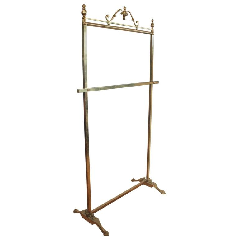 Antique Decorative Brass Coat Rack At 1stdibs