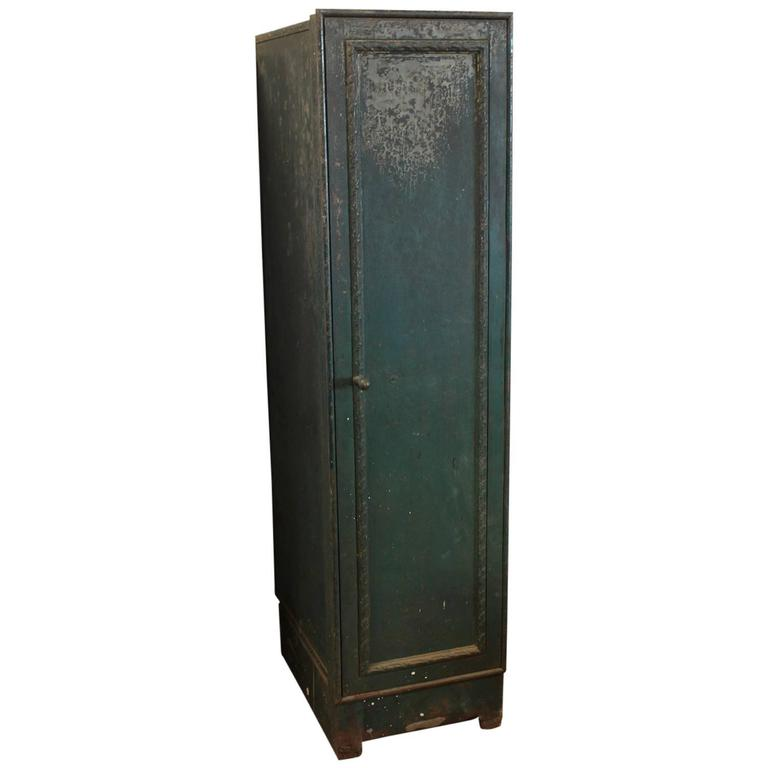 Antique American Bank Decorative Metal Locker For