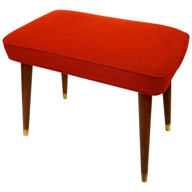 1950s Atomic Age American Modern Ottoman Footstool