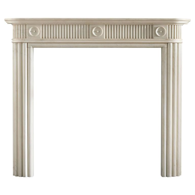 Regency Mantel in Statuary Marble with Reeded Jambs