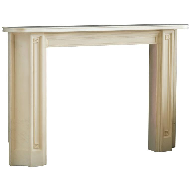 Sir John Soane Reproduction Mantel in Statuary Marble 'Soane IV'