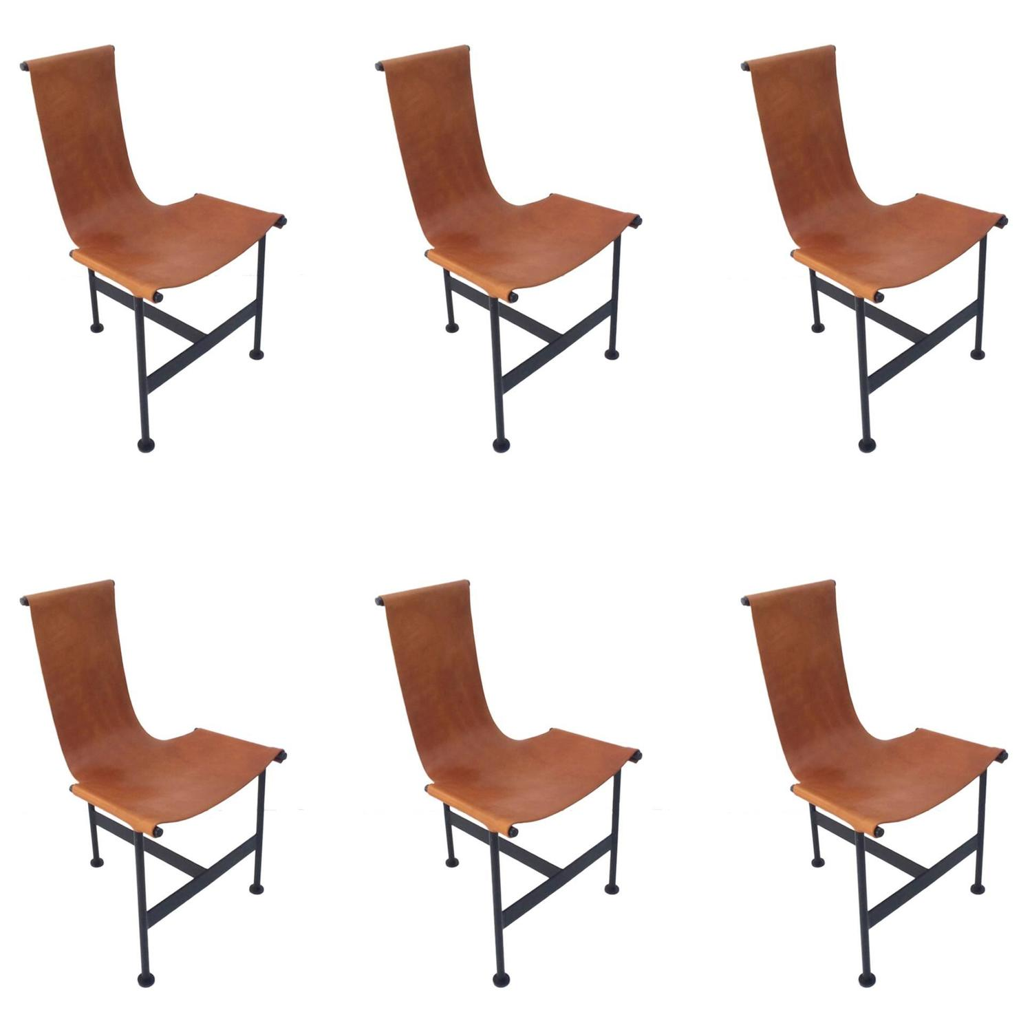 Of four chairs in oak and patinated cognac leather for sale at 1stdibs - Of Four Chairs In Oak And Patinated Cognac Leather For Sale At 1stdibs 26