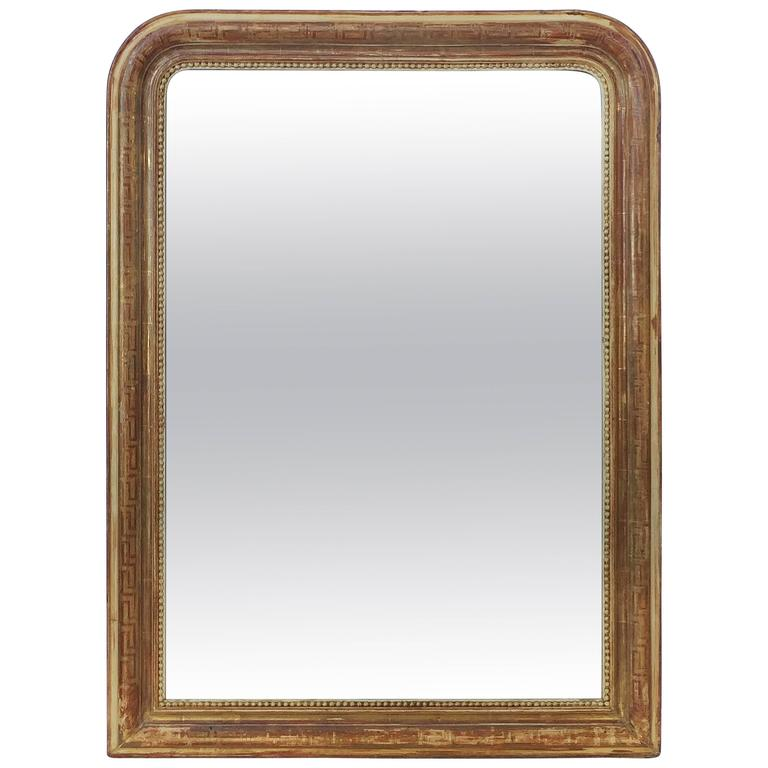 Large Louis Philippe Gilt Mirror (H 47 1/4 x W 35 1/4)