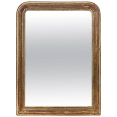 Large Louis Philippe Arch Top Gilt Mirror (H 47 1/4 x W 35 1/4)