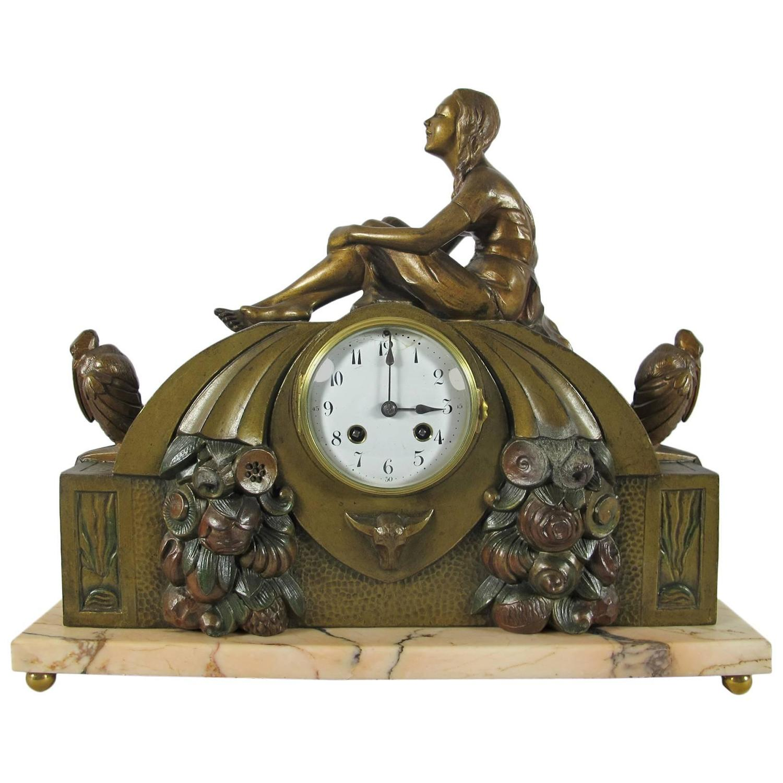 Art Deco Mantel Clock At 1stdibs