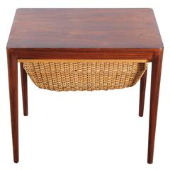 Scandinavian Sewing Table in Rosewood