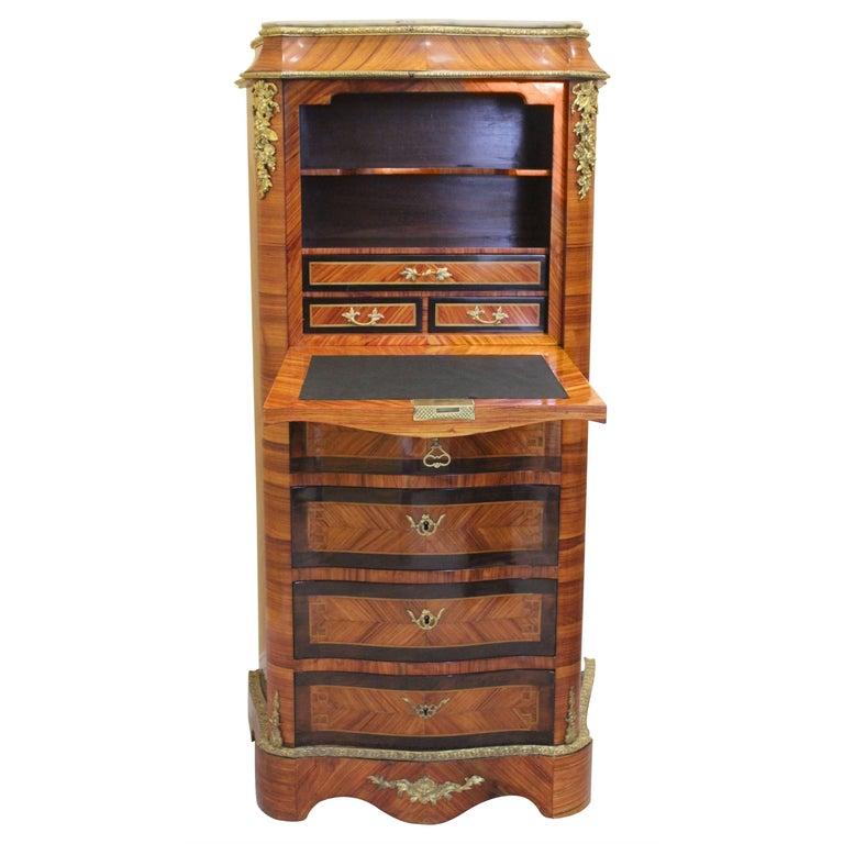 19th Century Louis XV-Style Secretaire a Abattant For Sale