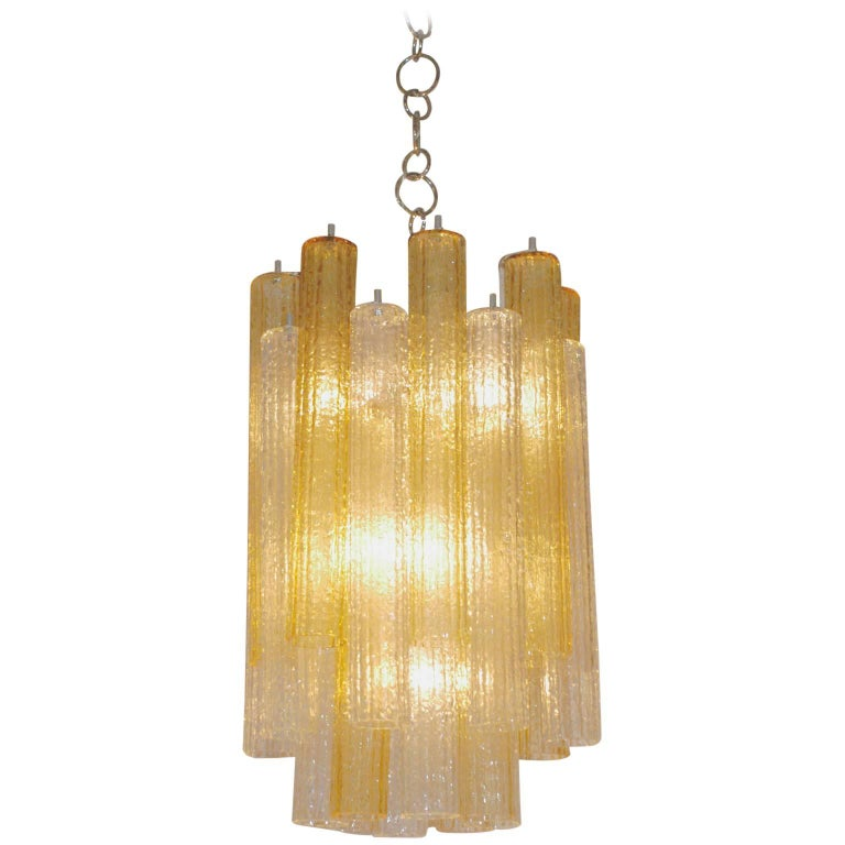 Italian Midcentury Tronchi Murano Glass Chandelier by Toni Zuccheri for Venini For Sale