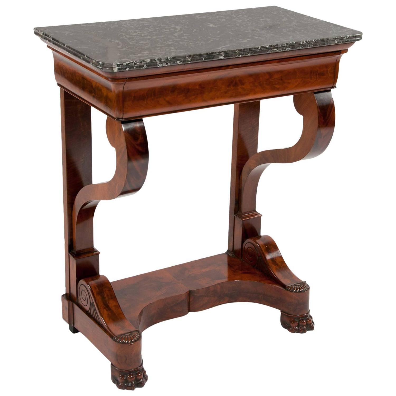 French louis philippe mahogany console table at 1stdibs for Table louis philippe