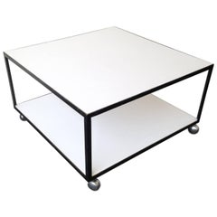 Rare George Nelson Coffetable with Castors