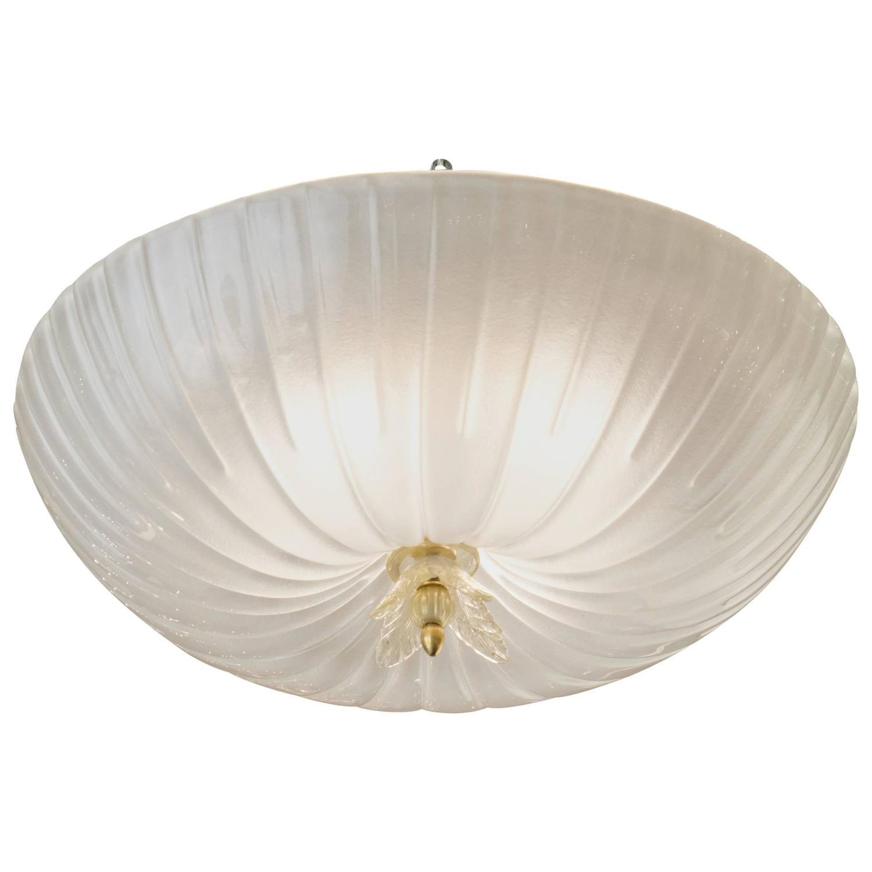 italian murano glass fluted dome flush mount ceiling. Black Bedroom Furniture Sets. Home Design Ideas