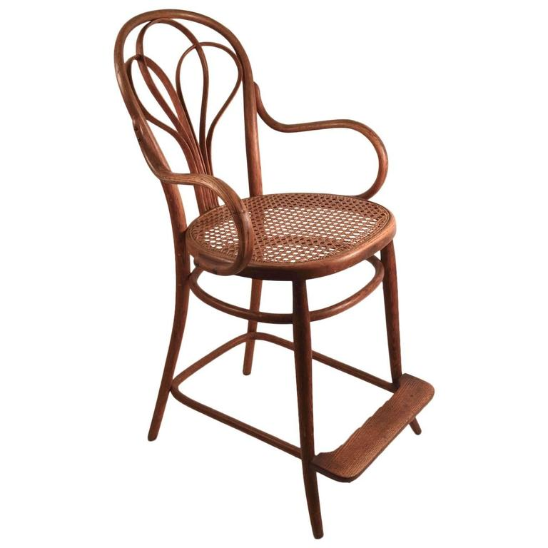 Bentwood Billiard Stool Attributed to Thonet