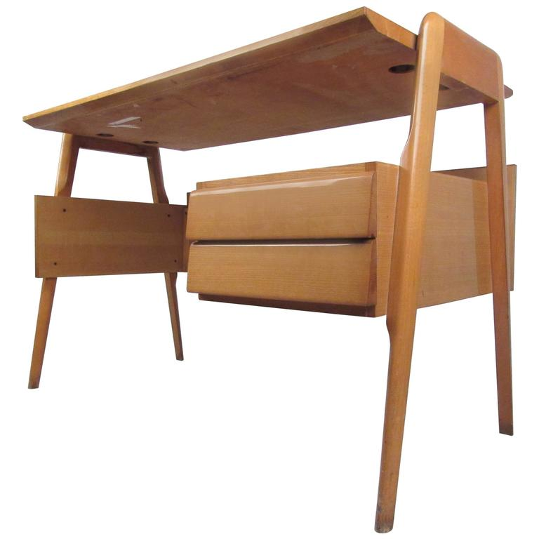 Italian Modern Floating Top Desk After Paolo Buffa