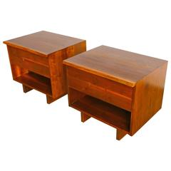 Pair of Studio Crafted Nightstands by Gino Russo