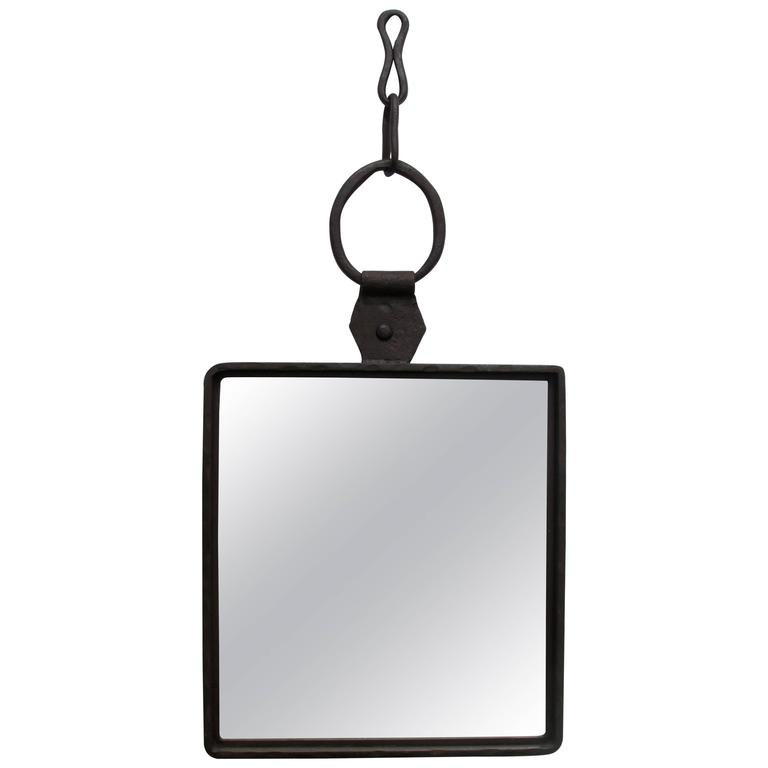 Hand wrought iron mirror at 1stdibs for Wrought iron mirror