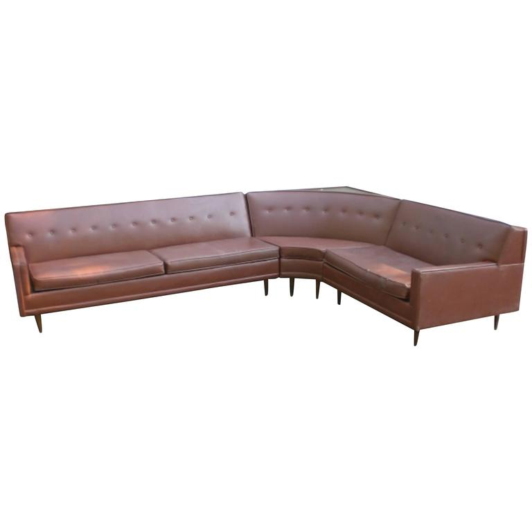 Vintage Modern L Shape Sectional Sofa For