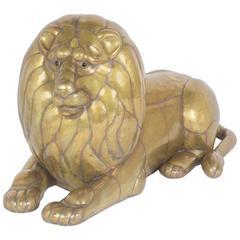 Brass Lion Sculpture by Sergio Bustamante